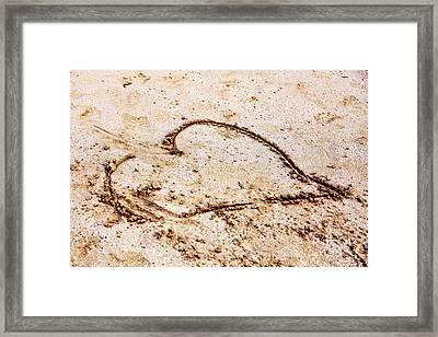 Beach Heart Framed Print