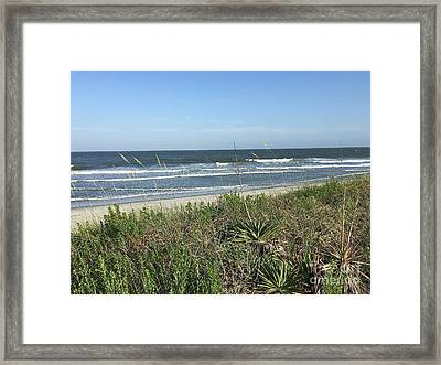 Beach Here I Come Framed Print