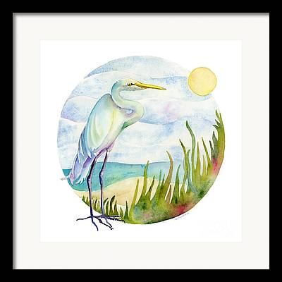 Egret Framed Prints