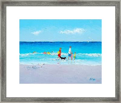 Beach Holiday Framed Print by Jan Matson