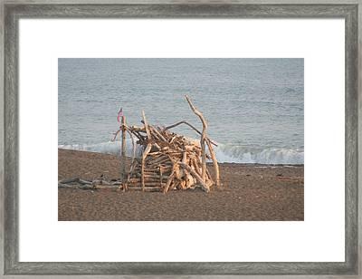Beach House Framed Print by Amy Holmes