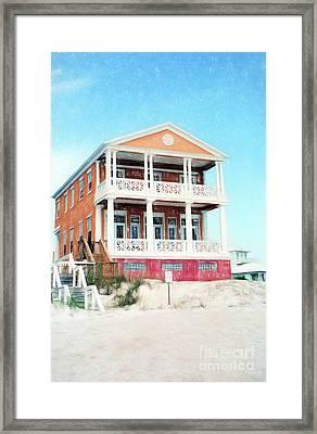 Beach House And Sandy White Florida Sand Framed Print by Vizual Studio