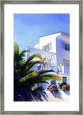 Beach House At Figueres Framed Print