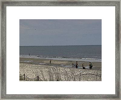 Framed Print featuring the photograph Beach House Backyard by Skyler Tipton