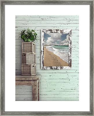 Framed Print featuring the photograph Beach House By Kaye Menner by Kaye Menner