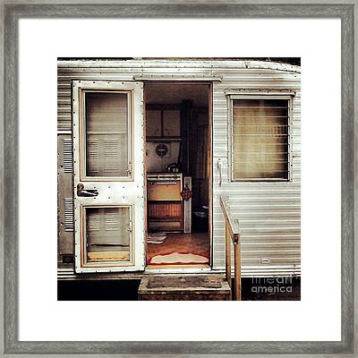 Framed Print featuring the photograph Camping Trailer by Susan Parish