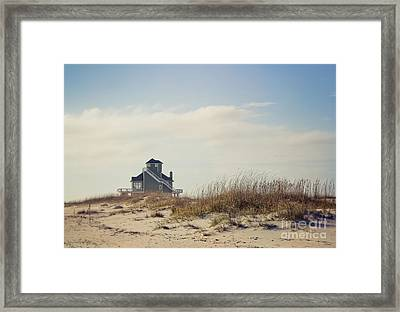 Beach House Framed Print by Joan McCool