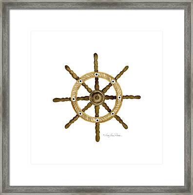 Beach House Nautical Boat Ship Anchor Vintage Framed Print by Audrey Jeanne Roberts