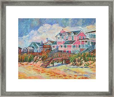 Beach Houses At Pawleys Island Framed Print