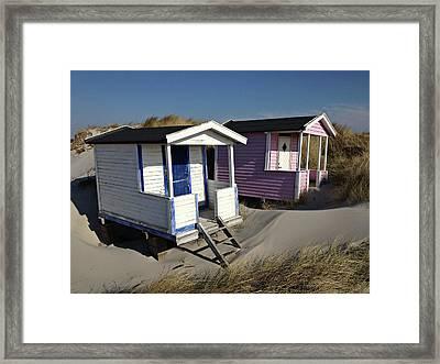 Beach Houses At Skanor Framed Print