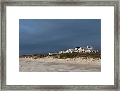 Beach Houses Framed Print