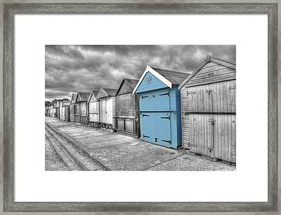 Beach Hut In Isolation Framed Print