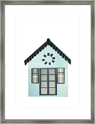 Beach Hut Framed Print by Isobel Barber