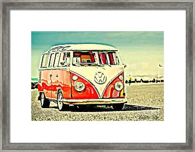 Beach Hut Framed Print by S Poulton
