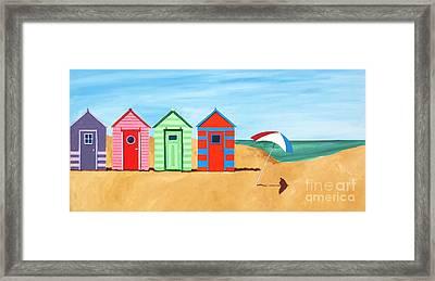 Beach Huts II Framed Print