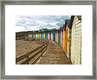 Beach Huts Framed Print by RKAB Works