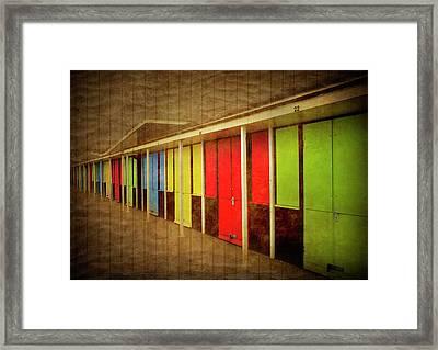 Beach Huts Framed Print by Svetlana Sewell