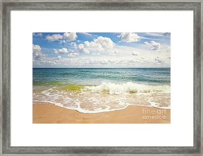 Beach Impression Hoernum Sylt Framed Print