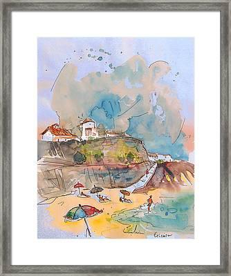 Beach In Ericeira In Portugal Framed Print by Miki De Goodaboom
