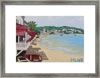 Beach In Grand Case Framed Print