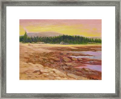 Beach In Maine Framed Print