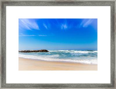 Beach In Portugal Framed Print