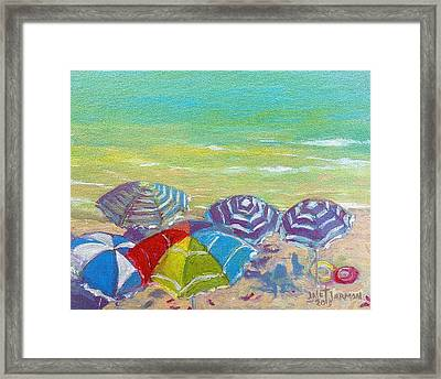 Beach Is Best Framed Print