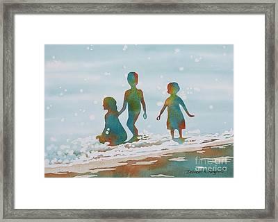 Beach Kids 2 Framed Print by Deborah Ronglien