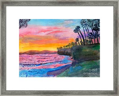 Beach Landscape Framed Print by Debbie Davidsohn