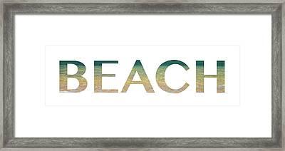 Beach Letter Art Framed Print by Saya Studios