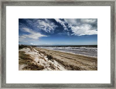 Framed Print featuring the photograph Beach Life by Douglas Barnard