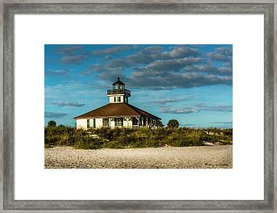 Beach Lighthouse Framed Print