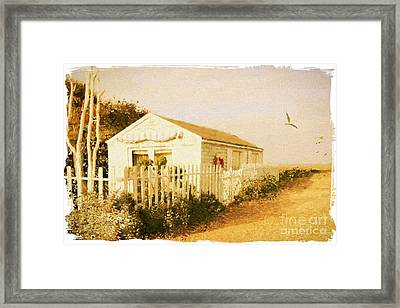 Beach Living. Bembridge Beach. Isle Of Wight. Framed Print by ShabbyChic fine art Photography