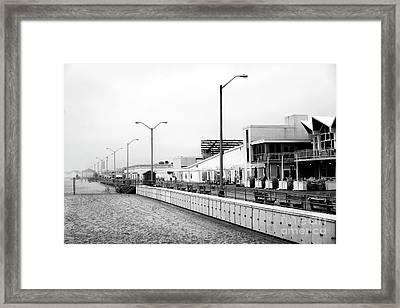 Beach Lockers At Asbury Park Framed Print