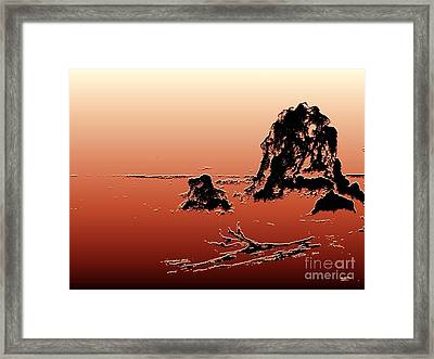 Framed Print featuring the photograph Beach Log by Carol Grimes