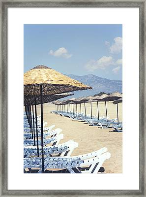 Beach Loungers Framed Print by Joana Kruse
