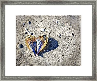 Beach Love By Sharon Cummings Framed Print by Sharon Cummings