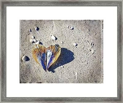 Beach Love By Sharon Cummings Framed Print