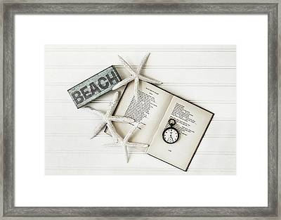 Beach Love Framed Print by Kim Hojnacki