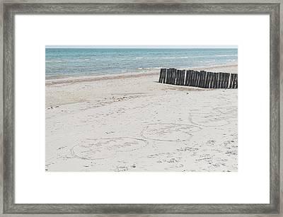 Beach Love Framed Print by Marcus Karlsson Sall