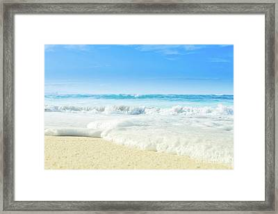 Framed Print featuring the photograph Beach Love Summer Sanctuary by Sharon Mau