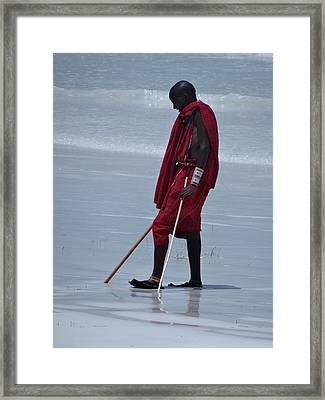 Beach Maasai Framed Print