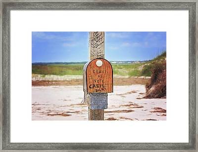 Beach Mail Framed Print