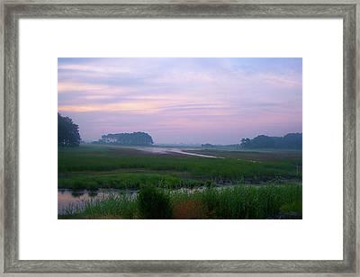 Beach Marsh Sunrise - 14 Framed Print by Donovan Hubbard