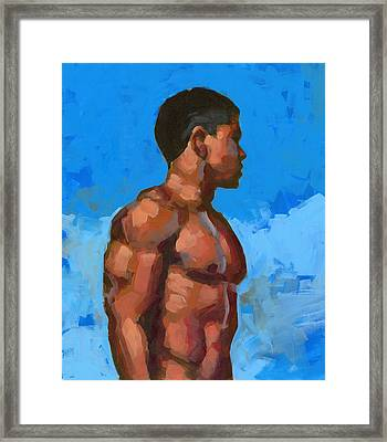 Beach Mike 2 Framed Print by Douglas Simonson