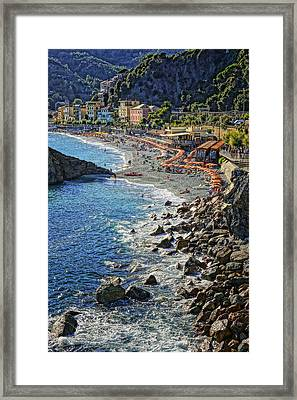 Beach Monterosso Italy Dsc02467 Framed Print by Greg Kluempers