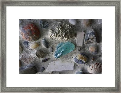 Beach Mosaic Closeup Framed Print
