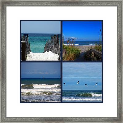 Beach Multiples Framed Print