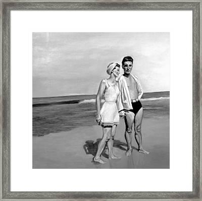 Beach Framed Print by Natalie Mae Richards