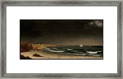 Beach Near Newport About Framed Print